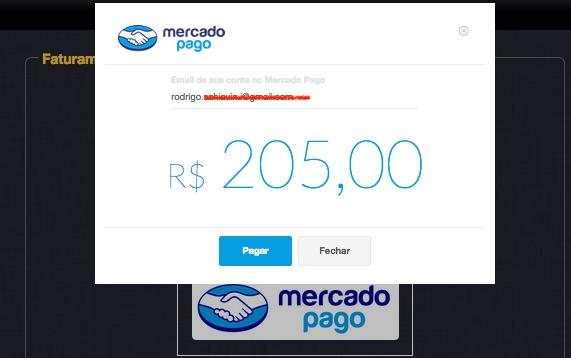 Email da conta do MercadoPago