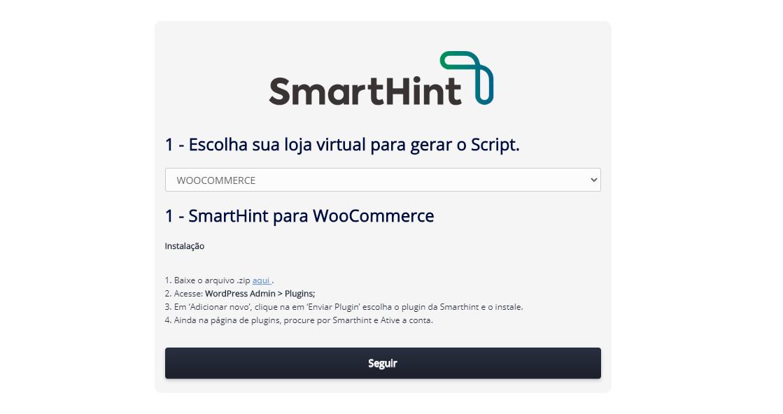 integração woocomerce smarthint
