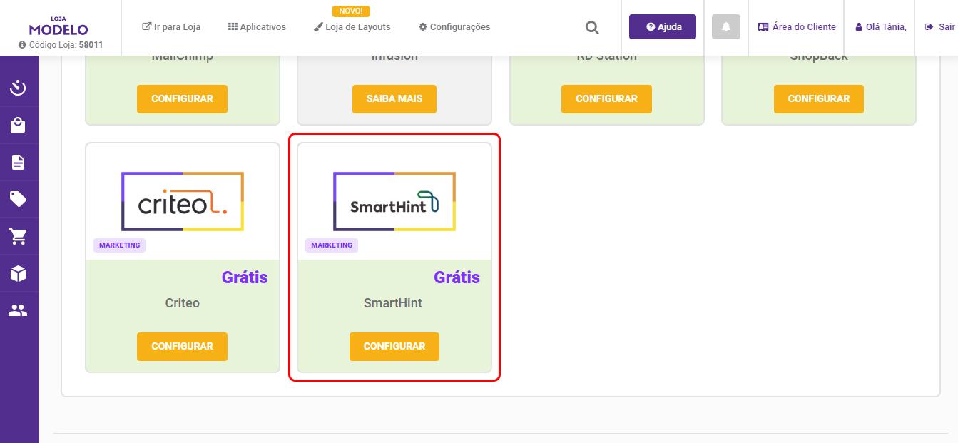 Integração Simplo7 SmartHint