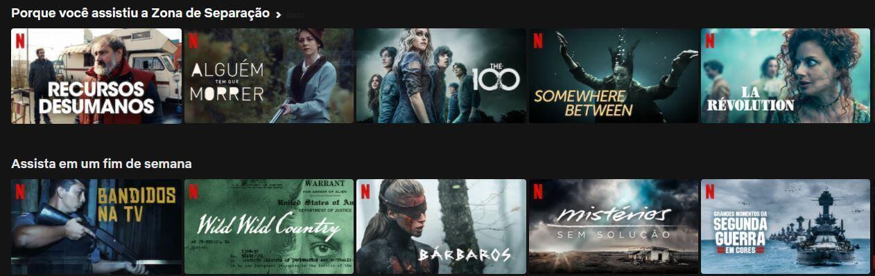 recomendação Netflix