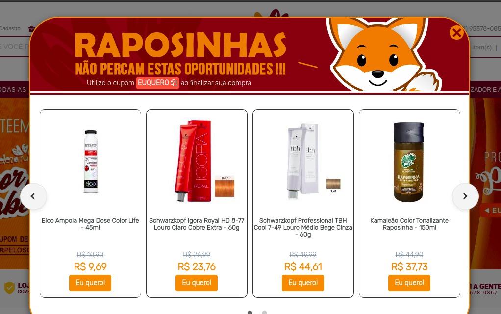 pop-ups de retenção para e-commerce